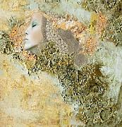Female Mixed Media - My Angel Series01 by Maria Szollosi