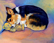 Corgi Dog Portrait Posters - My Baby Pembroke Welsh Corgi Poster by Lyn Cook