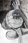 Basket Ball Posters - My Ball Poster by Bobby Dogra