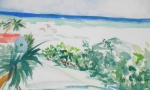 Beach Scene Painting Originals - My Beach Cottage in Siesta Key by Jill Morris
