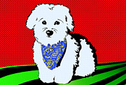 Maltese Dog Posters - My Beloved Poster by Crista Smyth