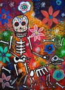 Sugar Skull Posters - My Bestfriend Poster by Pristine Cartera Turkus