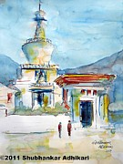Indian Artist Prints - My Bhutan Memories Print by Shubhankar Adhikari