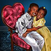 African-american Paintings - My Big Brother-My Little Sister1 by Reggie Duffie