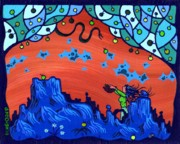 Garden-of-eden Paintings - My Blue Heaven by Dan Keough