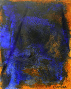 Burnt Paintings - My Blue by Teddy Campagna