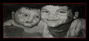 Kids Drawings - My Boys by Lisa Stanley