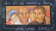 African-american Drawings - My Brothers Keeper by Jane Jolly Chappell