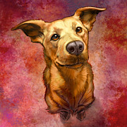 Dog Digital Art Prints - My Buddy Print by Sean ODaniels