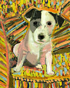 Pet Portraits Paintings - My Chair by David  Hearn