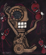 Mexican Art Prints - My Conscience Print by  Abril Andrade Griffith