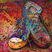 Sneakers Digital Art Prints - My Cool Sneakers Print by Barbara Berney
