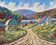 Prankearts Paintings - My Country My Village by Richard T Pranke