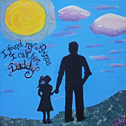 Family Love Paintings - My Daddy My Prince by Brandy Nicole Clark