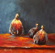 Figs Painting Prints - My Dads Bigger Than Yours Print by Angela Sullivan