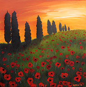 Cheap Painting Prints - My Dear Tuscany Print by Lynsie Petig