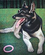 Friend Paintings - My dog KLEKS by Elzbieta Przepiorkowska