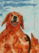 Family Love Paintings - My Dogs Shadow by Laura Brightwood