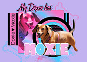 Doxies Digital Art - My Doxie Has Moxie - Abby by Renae Frankz