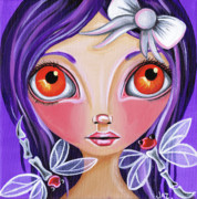 Pop Surrealism Paintings - My Dragonfly Friends by Jaz Higgins