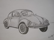Vw Beetle Originals - My Dream Car by Evelyn Cseh