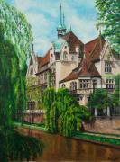 Canal Painting Originals - My Dream House by Charlotte Blanchard