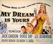 Doris Day Framed Prints - My Dream Is Yours, Doris Day, Jack Framed Print by Everett