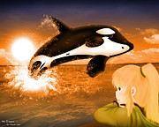 Orca Digital Art - My Dream by W Lynkx