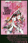 Musical Film Posters - My Fair Lady Poster by Nomad Art and  Design