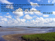 Chrisitan Print Posters - My Father Told Me Poster by Sheri McLeroy