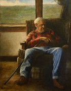 Indoor Painting Prints - My Father Print by Wayne Daniels