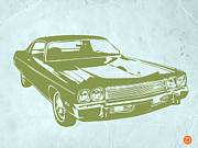 Vintage Music Player Prints - My Favorite Car 5 Print by Irina  March