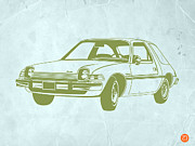 Midcentury Drawings Prints - My Favorite Car  Print by Irina  March