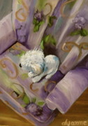Maltese Dog Posters - My Favorite Chair Poster by Dyanne Parker