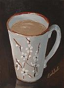 Interior Still Life Paintings - My Favorite Coffee Mug by Barbara Andolsek