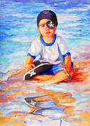 Puerto Rico Paintings - My Favorite Pirate by Estela Robles
