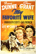 Cary Posters - My Favorite Wife, Cary Grant, Irene Poster by Everett