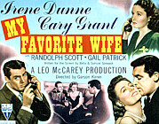 Cary Posters - My Favorite Wife, Cary Grant, Randolph Poster by Everett