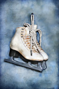 Pair Mixed Media Framed Prints - My first pair of skates Framed Print by Renee Dawson