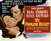 Lobbycard Prints - My Foolish Heart, Susan Hayward, Dana Print by Everett