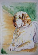 Father Christmas Originals - My Friend - Clumber Spaniel by Jan Irving