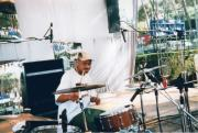 Paul SEQUENCE Ferguson             sequence dot net - MY FRIEND GURU ON DRUMS 1996