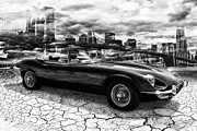Jaguar E Type Classic Car Posters - my friend Jag-E Poster by Joachim G Pinkawa