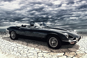 Roadster Prints - my friend the Jag Print by Joachim G Pinkawa
