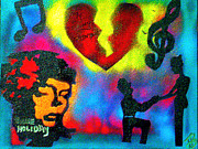 Billie Painting Originals - My Funny Valentine by Tony B Conscious
