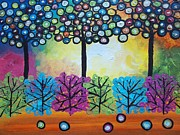 Fantasy Tree Art Paintings - My Garden by Shirley Smith
