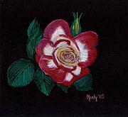 Flower Pastels - My Grandmas Rose by Mendy Pedersen