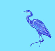 Lavenders Prints - My Great Blue Heron Pal Print by Kitty Summerall