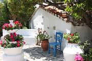 My Greek Garden Print by Yvonne Ayoub