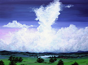 Big Skies Paintings - My heart holds secrets by Colin Perini